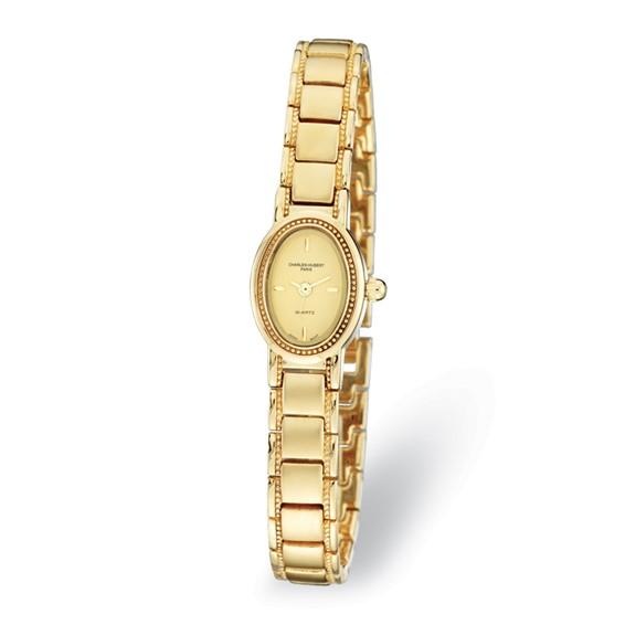 Ladies Charles Hubert Satin Gold-plated Brass Watch