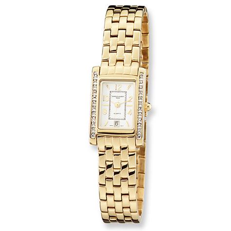 Ladies Charles Hubert Gold-plated Brass Swarovski Crystal Watch
