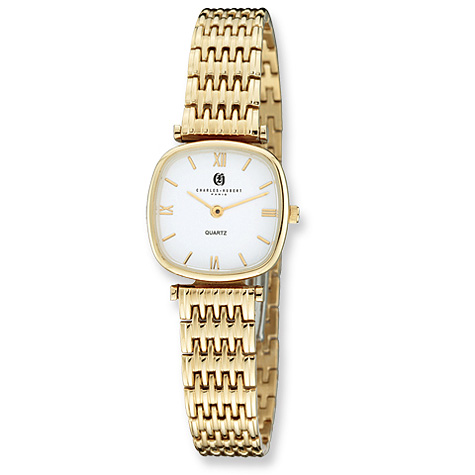 Mens Charles Hubert Gold-plated Stainless White Dial Watch