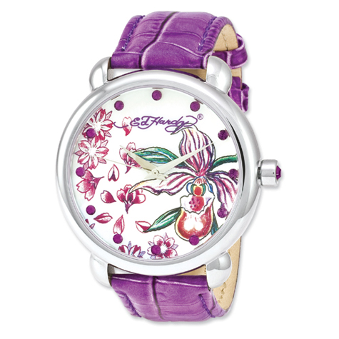 Ed Hardy Garden Purple Watch