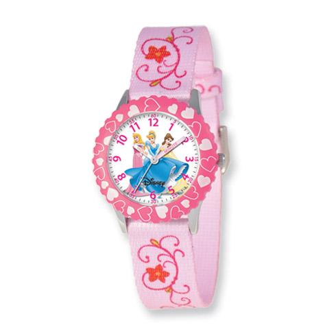 Disney Princess Kids Printed Fabric Band Time Teacher Watch
