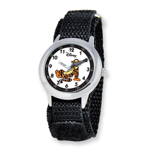Disney Tigger Black Velcro Band Time Teacher Watch