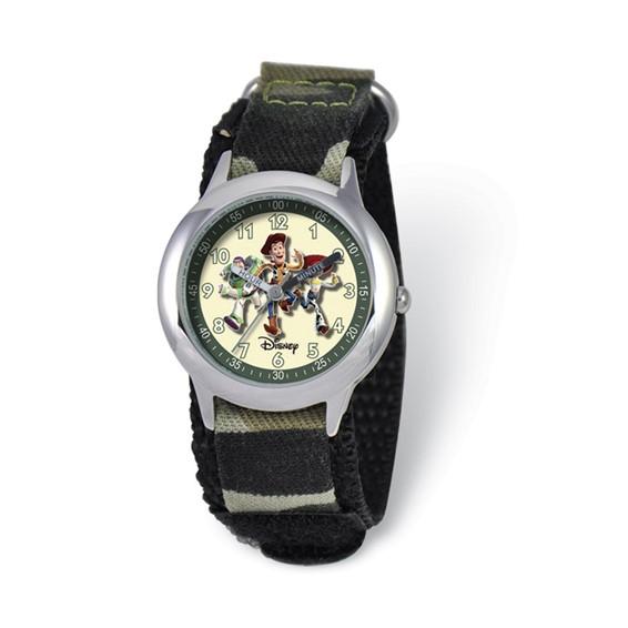 Disney Toy Story Kids Camo Velcro Band Time Teacher Watch