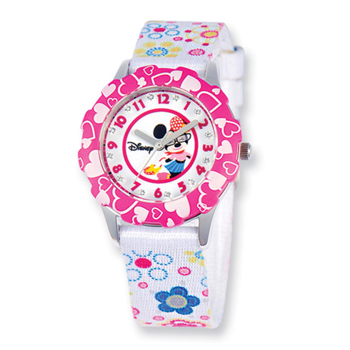Disney Minnie Mouse Glitz Printed Band Tween Watch