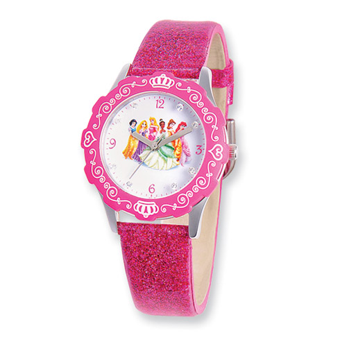 Disney Princess Glitz Pink Band Tween Watch