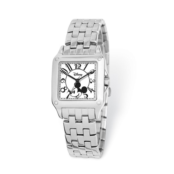 Alloy Stainless Steel Square Dial Mickey Mouse Watch