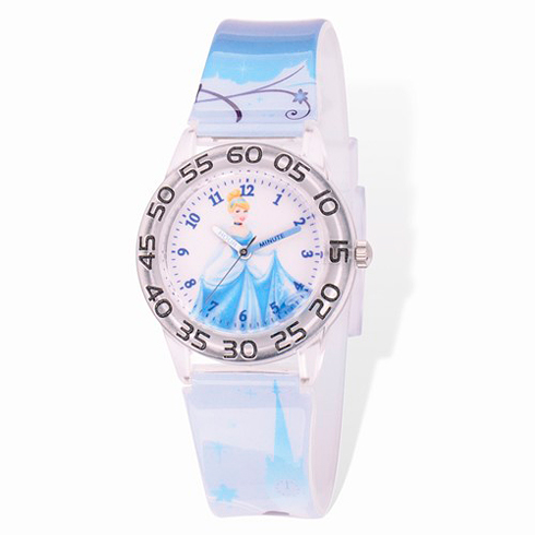Cinderella Plastic Band Time Teacher Watch
