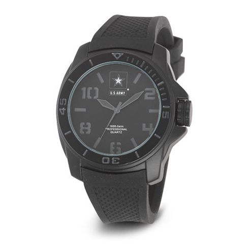 Wrist Armor US Army C25 Watch Stealth Dial with Black Strap