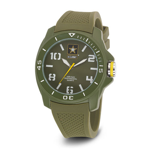 Wrist Armor US Army C25 Watch Green White Dial with Green Rubber Strap