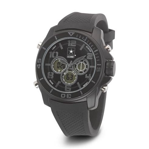 Wrist Armor US Army C24 Digital Chronograph Watch Black Stealth Dial