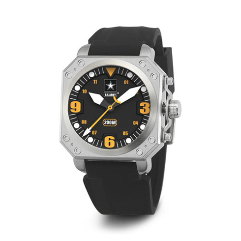 Wrist Armor US Army C4 Watch Black Yellow Dial with Black Silicone Strap