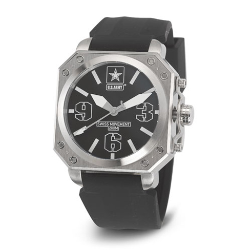 Wrist Armor US Army C4 Watch Black Dial with Black Silicone Strap