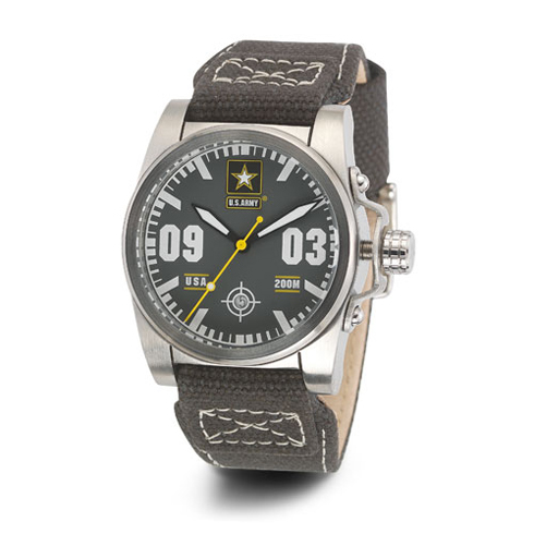 Wrist Armor US Army C1 Watch Gray Dial with Canvas Strap