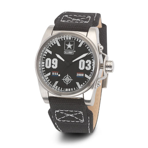 Wrist Armor US Army C1 Watch Black Dial with Black Canvas Strap