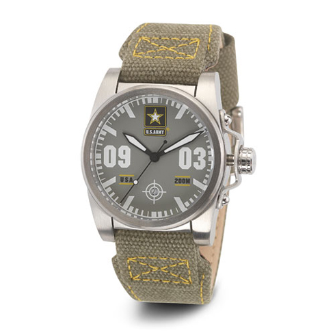 Wrist Armor US Army C1 Watch Gray Dial Gray Yellow Canvas Strap