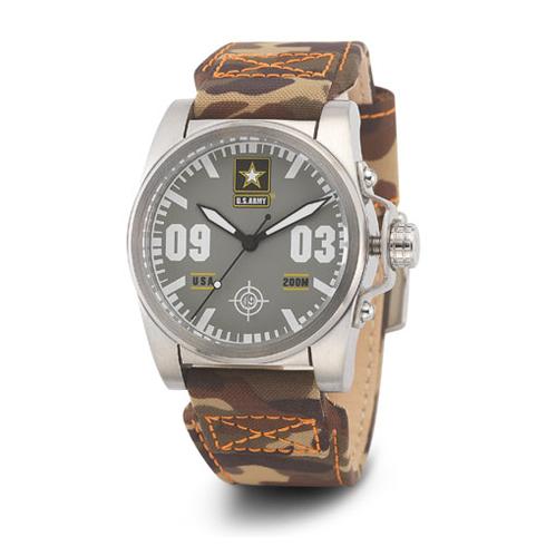 Wrist Armor US Army C1 Watch Gray Dial with Camo Nylon Strap