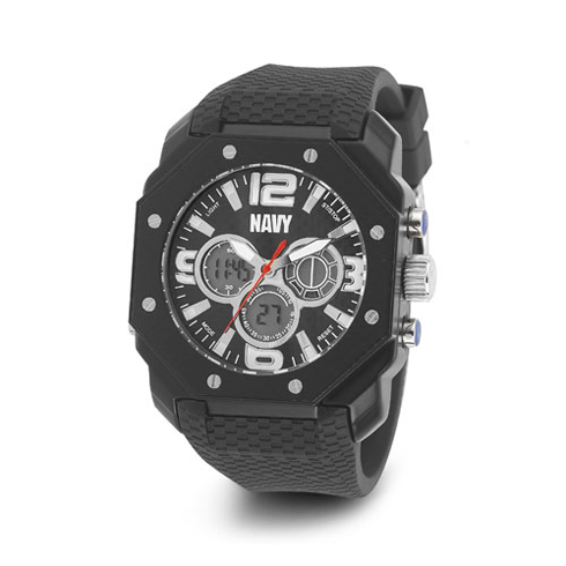 Wrist Armor US Navy C28 Digital Chronograph Watch Black Dial