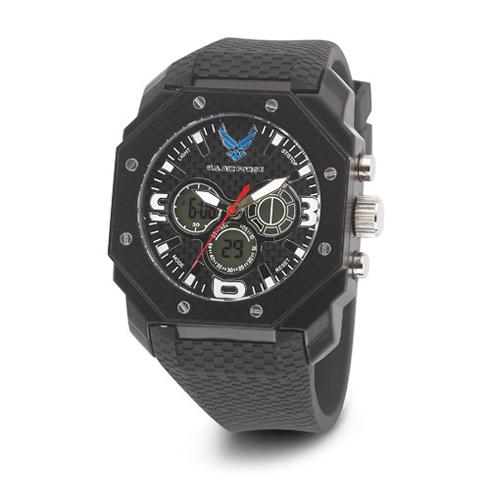 Wrist Armor US Air Force C28 Digital Chronograph Watch Black White Dial