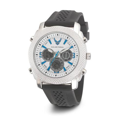 Wrist Armor US Air Force C21 Digital Chronograph Watch White Blue Dial
