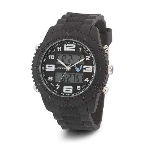 Wrist Armor US Air Force C27 Digital Chronograph Watch Black White Dial
