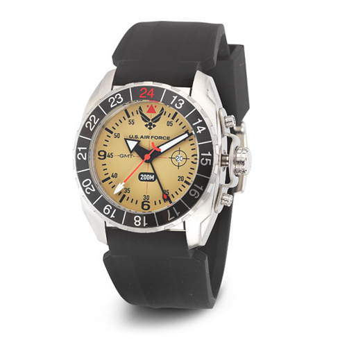Wrist Armor US Air Force C3 Watch Yellow Dial with Black Silicone Strap