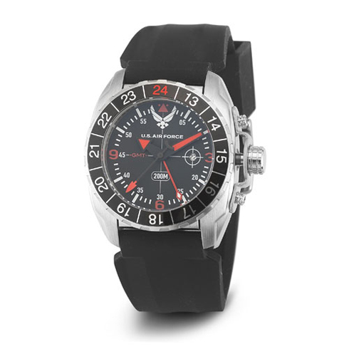 Wrist Armor US Air Force C3 Watch Black Dial with Black Silicone Strap