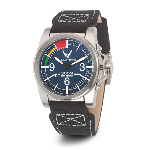 Wrist Armor US Air Force C1 Watch Blue Dial with Black Canvas Strap