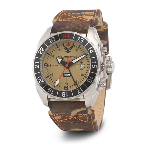Wrist Armor US Air Force C3 Watch with Nylon Camo Strap