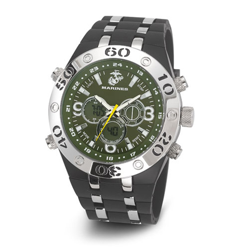 Wrist Armor US Marines C23 Digital Chronograph Watch Green Dial