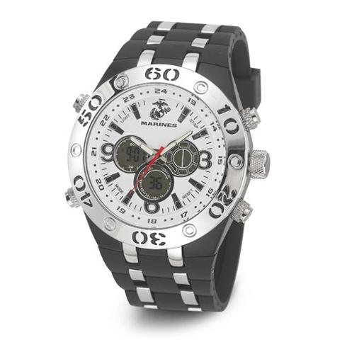 Wrist Armor US Marines C23 Digital Chronograph Watch White Dial