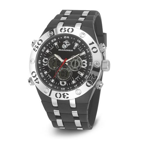 Wrist Armor US Marines Black C23 Digital Chronograph Watch