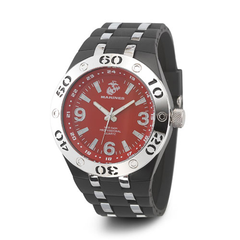 Wrist Armor US Marines C22 Watch Red Dial with Black Rubber Strap