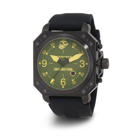 Wrist Armor US Marines C4 Green Yellow Dial Swiss Quartz Watch