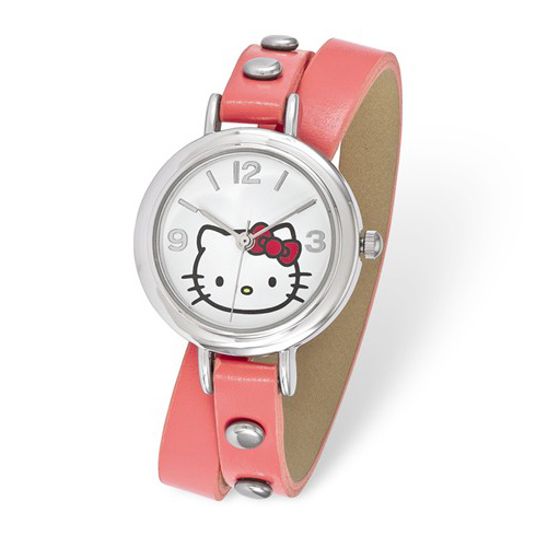 Hello Kitty Pink Faux Leather Wrap Watch