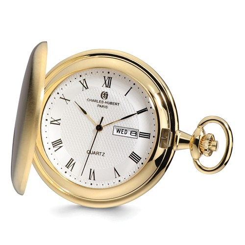 Charles Hubert Gold-tone Pocket Watch with Day Date #3974-G