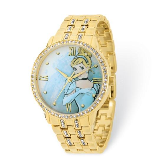 Cinderella Gold-tone Crystal Bracelet Watch