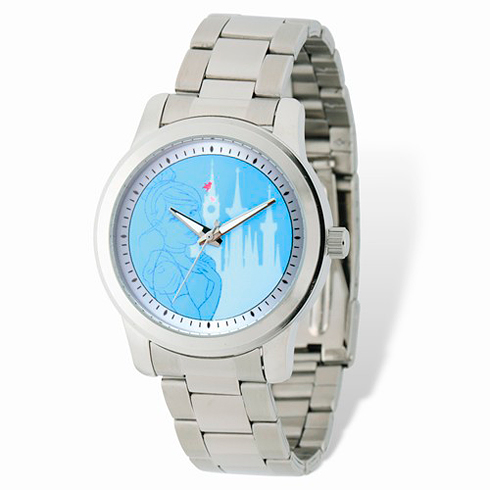 Cinderella Stainless Steel Blue Dial Watch