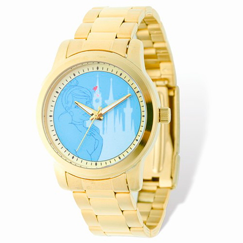 Cinderella Gold-tone Stainless Steel Blue Dial Watch