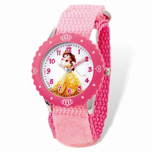 Belle Pink Velcro Time Teacher Watch