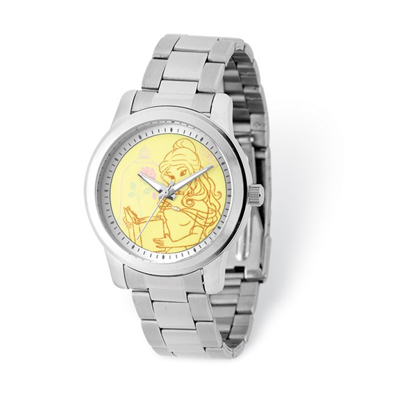 Belle Stainless Steel Yellow Dial Watch