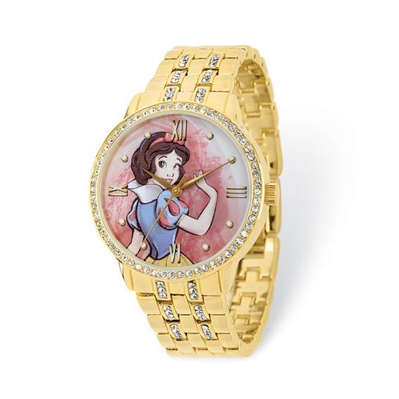Snow White Gold-tone Crystal Bracelet Watch