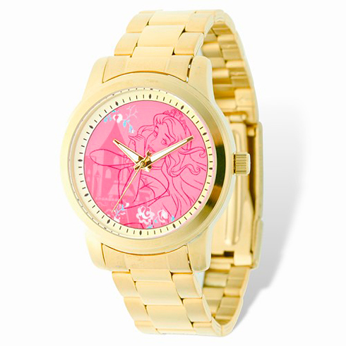 Sleeping Beauty Gold-tone Stainless Steel Pink Dial Watch