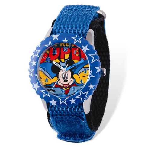 Super Mickey Mouse Velcro Time Teacher Watch