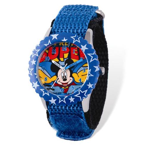 Super Mickey Mouse Velcro Time Teacher Watch