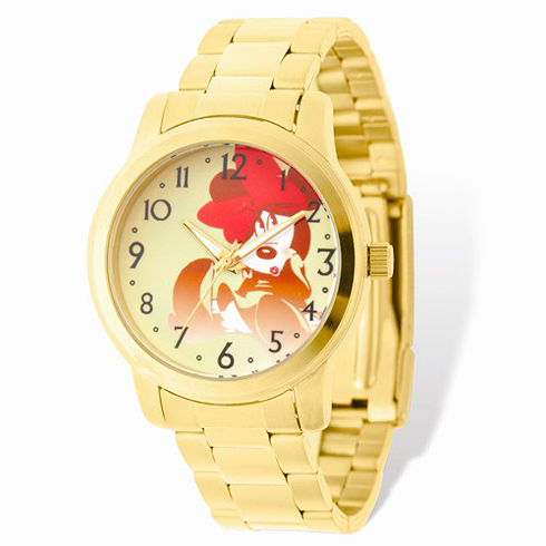 Minnie Mouse Gold-tone Stainless Steel Gold Dial Watch