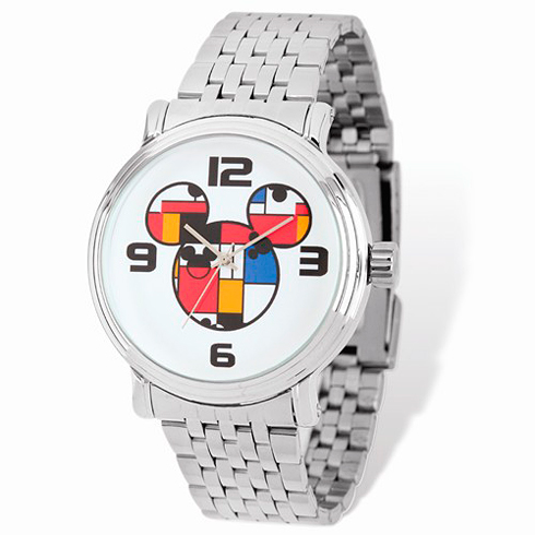 Mickey Mouse Men's Stainless Steel Colorblock Watch