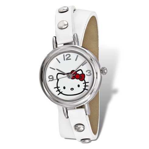Hello Kitty White Faux Leather Wrap Watch