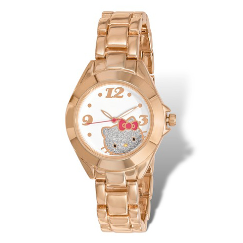 Hello Kitty Rose Gold-tone Glitter Watch