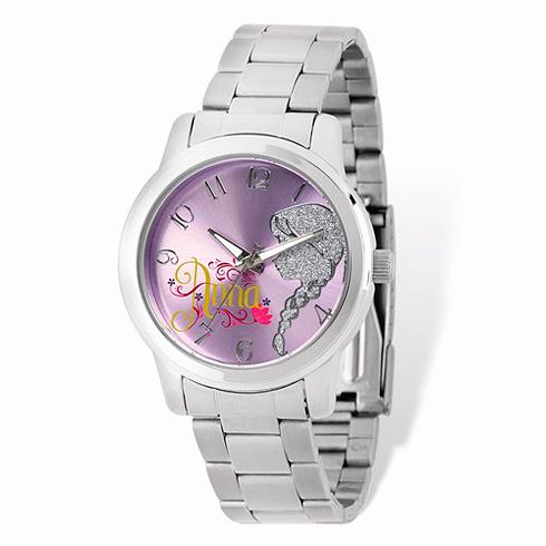 Frozen Anna Stainless Steel Purple Dial Watch