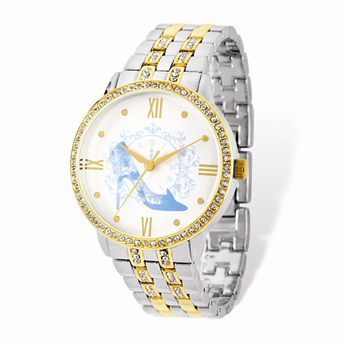 Cinderella Slipper Two-tone Crystal Bracelet White Dial Watch